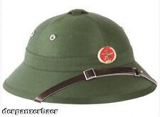 Vietcong Tropenhelm mit Abzeichen Vietnam Pith helmet NEU