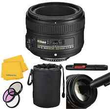 Nikon 50mm 1.8 G with Lens Pouch,3 Piece Filter Kit & Lens Pen