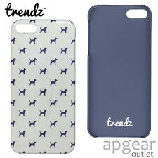 Genuine Trendz TZIP 5bsn Bianco Cane BACK CASE COVER IPHONE 5 5s se