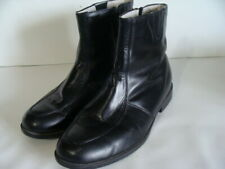 Ambassador Shoes of Distinction Size 8 M 3E Wide Ankle Boots Zip Leather Black