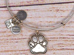 Alex and Ani Paw Prints of Love Charm Silver Bracelet 2014