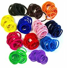 20 x Quality COLOURFUL HAIR BANDS Elastics Bobbles Girls School Ponies Ties 4 mm