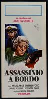 Plakat Mord A Rand A.Christie M.Rutherford G.Pollock Murder Ahoy L06