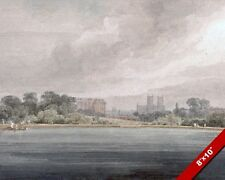 VIEW OF WESTMINSTER ABBEY ST JAMES PARK LONDON PAINTING ART REAL CANVAS PRINT