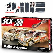 SCX 1/32 Original C2 Rally X-treme Analog Racing Slot Car / Track Set A10162X5U0