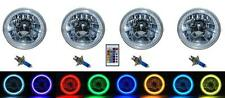 5-3/4 RGB SMD Multi-Color White Red Blue Green LED Halo Angel Eye Headlights Set