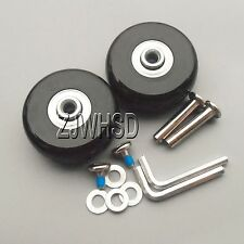 """Luggage Suitcase Replacement Wheels OD 50 (1.97"""") ID 6 W 22 Axles 30 Repair Set"""