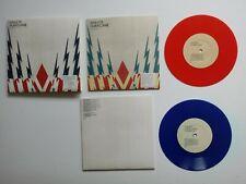 "Athlete Hurricane 2 x Coloured 7"" Singles Set Red Blue Vinyl Records Mint"