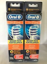 New Genuine x8 Braun Oral B TRIZONE Electric Replacement Tooth Brush Heads