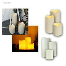 6er Set LED Candle Feet Outdoor Flameless Flickering Elektrsich