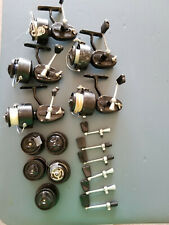 Lot of 5 Garcia Mitchell 300 Spinning Reels with 5 Additional Spools & 6 Handles