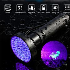 100 LED UV Ultra Violet Blacklight Flashlight Torch Inspection Light Outdoor