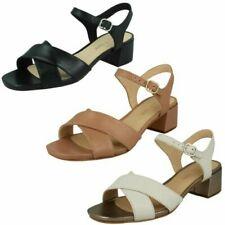 Ladies Clarks Strappy Heeled Sandals 'Sheer35 Strap'