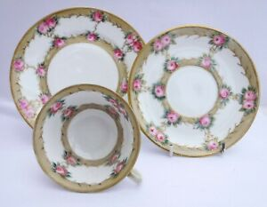 Noritake Antique Roses Tea Trio