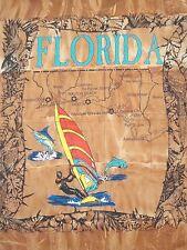 Vintage Florida Beaches Road Trip Surfboard Sailing Tie-Dye T Shirt L