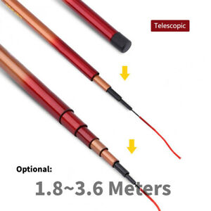 1.8-3.6m Retractable Glass Steel Hand Pole Telescopic Fishing Rod Tackle