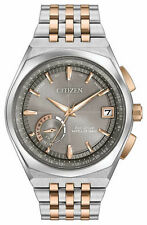 NEW Citizen Eco-Drive Satellite Wave Stainless Steel Two Tone Watch CC3026-51H