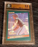 1986 DONRUSS THE ROOKIES #22 JOSE CANSECO RC Rookie ATHLETICS BGS 9.5 GEM MINT