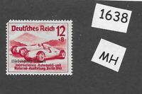 1939  MH postage stamp PF12+08 / Race car overprinted /  Germany / Third Reich