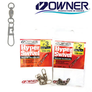 Owner Snagless Snap with Swivel Fishing Terminal Tackle 5190 Select Sz