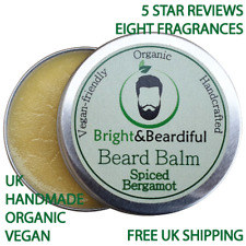 Organic Beard Balm Styling, Taming, Leave-in Conditioner, Softer, Fuller 30ml