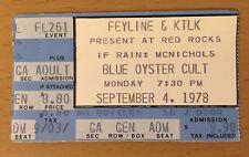 1978 Ac/Dc B.O.C. Denver Red Rocks Concert Ticket Stub Powerage Tour Bon Scott A