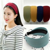 Hoop Plastic  Crochet Headwear  Wide Turban Fashion Hairbands  Women Headbands