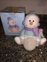 """Animated Musical Christmas Plush Color Changing Snowman Let It Snow 9"""" And Box"""
