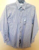 Van Heusen French Grey Stripe Long Sleeve Wrinkle Free Dress Shirt 15 32/33