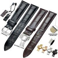 ZLIMSN Top Quality Croco Genuine Leather Watch Band Strap 18 20 22 24mm Cowhide