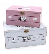 Vintage/Retro Wooden Rectangular Decorative Storage Boxes