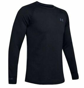 Under Armour 1353349 Men's UA ColdGear Base 4.0 Top Baselayer Crew Shirt, Black