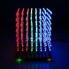 NEW 3D LightSquared DIY Kit 8x8x8 5mm LED Cube Red Green Blue LED HOT