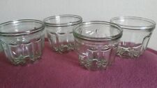 4 originale Bahlsen Conditola Gugelhupfformen aus Glas