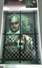 Haunted Asylum Halloween Wall Grabber Decoration dreadful decal cling DECOR