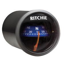"Ritchie-Sport X21BU Marine Boat Dash Mount Compass Black/Blue 2""Dial 12V Lighted"