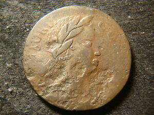 1785 Connecticut Colonial Copper African Head Cent  Decent Coin CAL