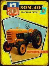 ¨Plaque métal Vintage Tracteurs Someca