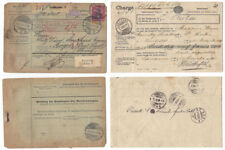 More details for postal history 4x customs declarations coupons, multiple postmarks