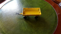 vintage matchbox yellow hay trailer 8.5cm long