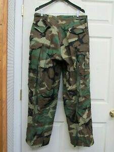 US GI M65 Field Pants Trousers Woodland Camo Cold Weather Medium Regular NOS