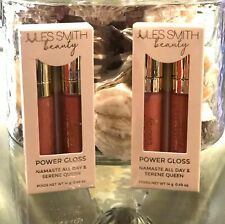 Jules Smith Beauty Power Lip Gloss Duo lot of 2 Namaste All Day & Serene Queen