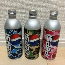 A BATHING APE Pepsi Collaboration Empty Cans 3 Pieces Set Camo Green Pink Blue