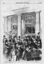 OLD 1856 ANTIQUE PRINT THE HOUSE OF LORDS SITTING AS A COURT OF APPEAL b29