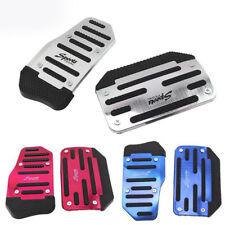 Car SUV Automatic Gear Brake Accelerator Blue Non-Slip Foot Pedal Pad Cover 2Pcs
