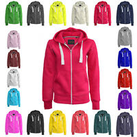 Ladies Girl NEW PLUS SIZE Zip Up Sweatshirt Hooded Hoodie Coat Jacket Top S-8XL