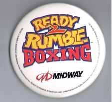 """1999 Ready 2 Rumble Boxing Video Game 2.5"""" Advertising Pinback Button Midway Old"""