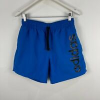 Adidas Mens Shorts Medium Blue Elastic Waist Drawstring Pockets