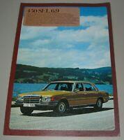 Prospekt Mercedes S-Klasse W 116 450 SEL 6.9 / 6,9 Liter V8 mit 286 PS 1975!