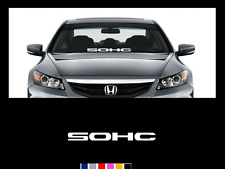 SOHC Windshield Banner Decal Sticker i-vtec vtec si civic accord crx del sol jdm
